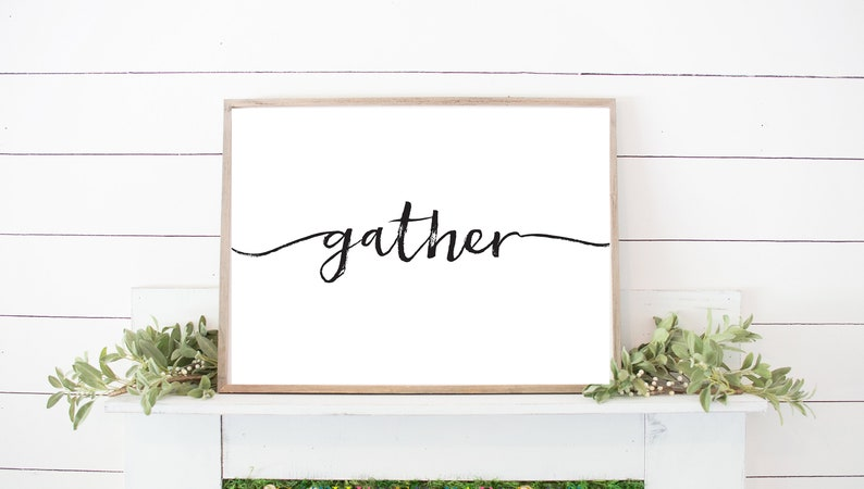 image relating to Gather Printable titled Assemble Print Collect Printable Printable Quotation Collect Get Wall Artwork Housewarming Present Print and Body Collect Indication Fresh new Residence