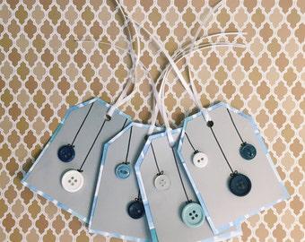 Blue Ornament Tags