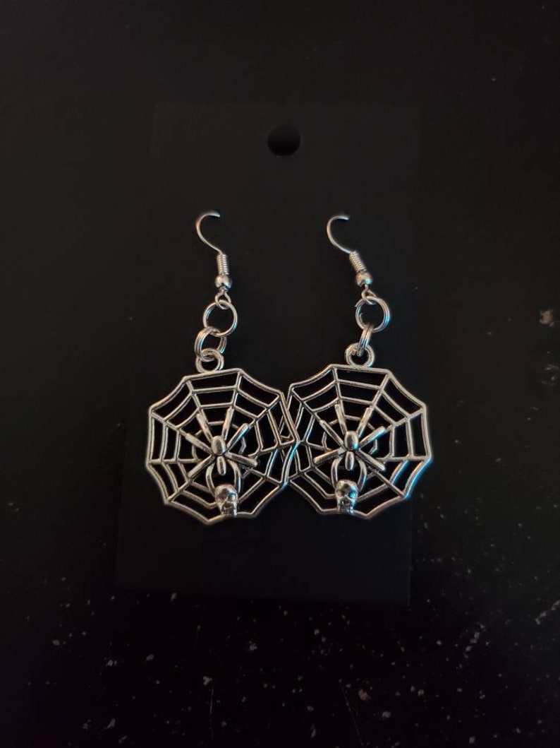 Spindly Spider Earrings