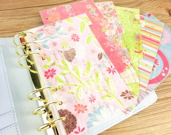 Laminated Dividers 255 Pink Planner dividers White Pocket Size A5 Green Watermelon Summer Set of 5 Planner dividers for Personal