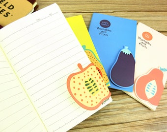 Cute Fruit Midori,MTN,Fauxdori Refill with Pagemarker,Fieldnotes size, Travelers notebook inserts, journal notes, Pocket size insert