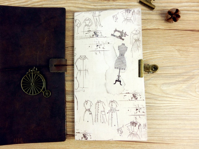 Fauxdori Midori Dashboard with side Bookmark ,fashion designer style,Standard,B6,B6 slim,Persona,A6,Fieldnotes,Passport size,2 way dashboard