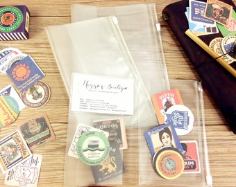 Special size B6, Fieldnotes(Pocket size), A5, A6 , Cahier size TN Pvc Zip Pouch,Card Holder, Midori Travelers Notebook, MTN zip pocket