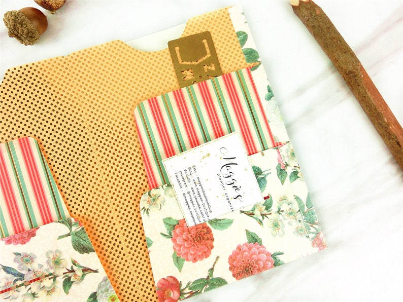 Fauxdori  Midori Glitter floral 6 Pockets Folder Cahier,Regular,B6 ,Personal,A6,FN slim ,Passport,Micro 10 The Coral Couture Pocket