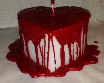 Bleeding Heart Candle, Halloween Candle, Gothic Candle, Bloody Heart Candle