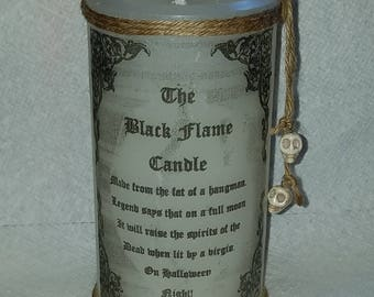 Black Flame Replica Candle, Black Flame Candle, Hocus Pocus Candle, Spell Candle, Halloween, Gothic, Wiccan