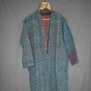 Bath Robe,100/% Cotton Vintage Kantha  Patchwork Handmade Kantha Stitch Robe,Cotton Kimono,Swim Wear,Night Wear Free Size,Winter Jacket