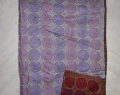 Vintage Silk Hand Quilted Kantha Hand Work Stoles Reversible Scarves Scarf ART-SH03