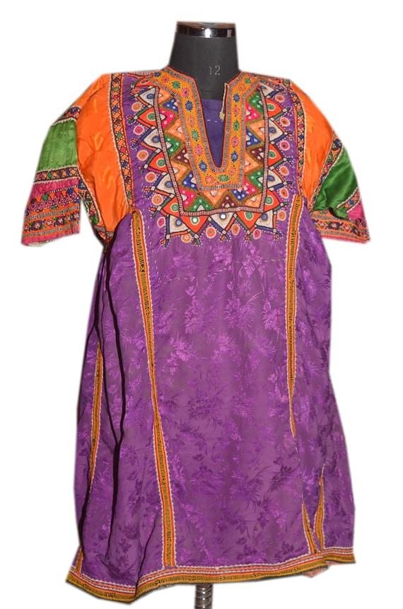 Vintage indian  Dress Boho Tribal Kaftan Dress Tun