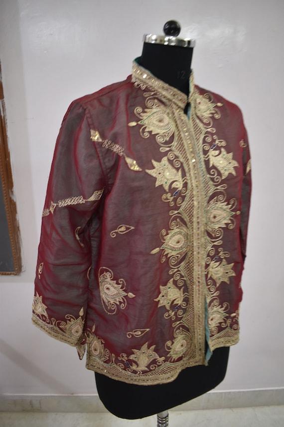 Vintage Jacket Embroidered  Short Coat - image 4