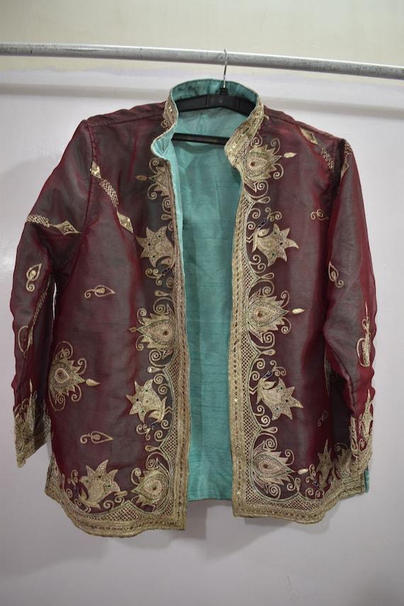 Vintage Jacket Embroidered  Short Coat - image 2