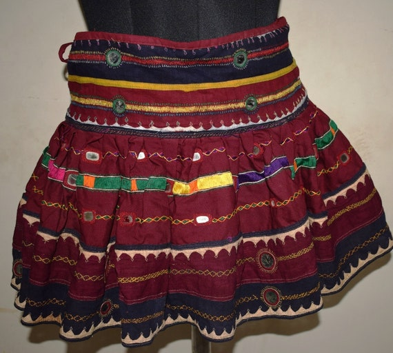 Banjara Banjara Hand Tribal Gypsy Vintage Clothing Skirt Short Skirt Embroidered Cotton Banjara Women RSAfqAw0