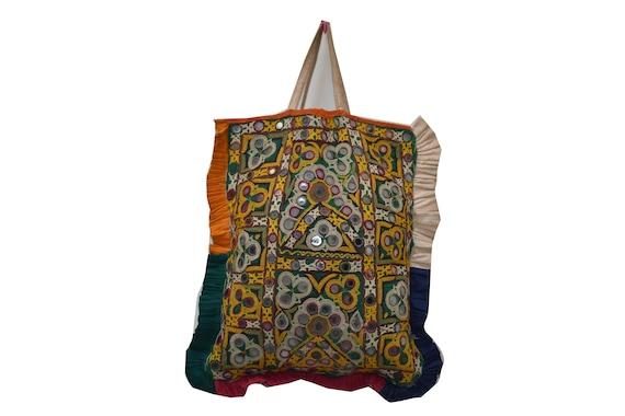 bag / woman bag / mirror work bag Tribal bag  Vint