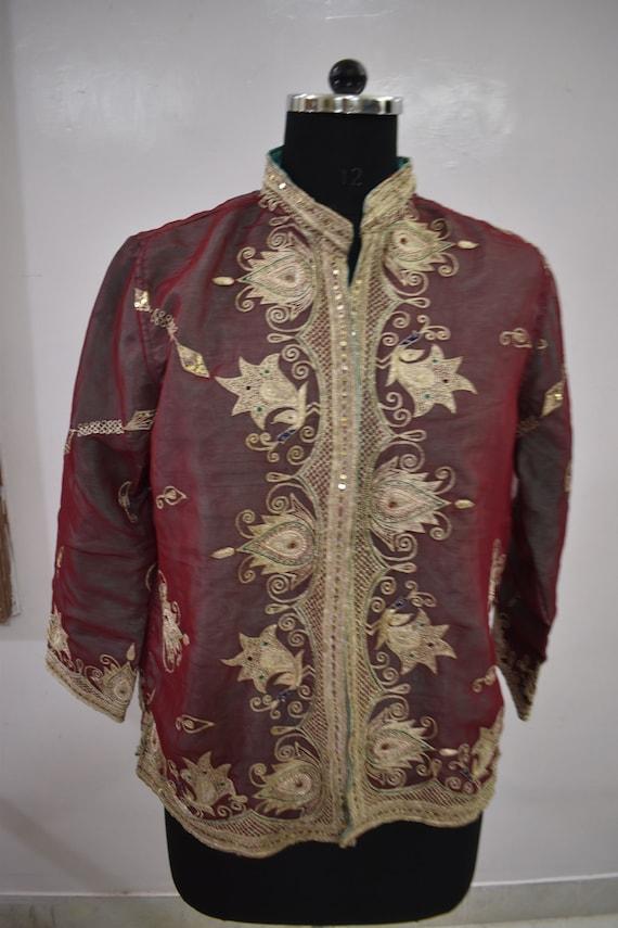 Vintage Jacket Embroidered  Short Coat - image 3