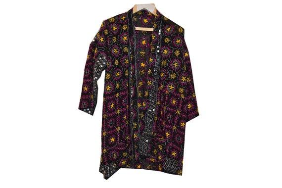 Phulkari Kimono, Floral Kimono, Festival Wear, Boh