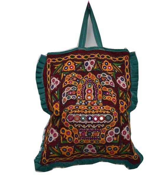 antique bag / collectible indian textile / kutch r