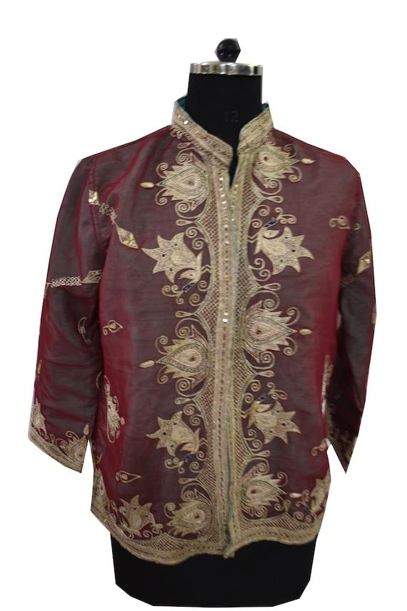 Vintage Jacket Embroidered  Short Coat