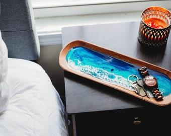 Decorative Trays, Resin Trays, New Home Gift, First Home Gift, First Home Housewarming Gift, Beach Decor, Custom Cutting Board