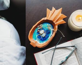 Pineapple trinket dish, aloha dish, jewelry dish, spoon rest
