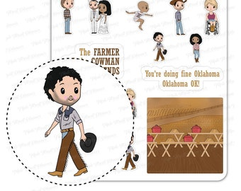 Broadway Musical Stickers   Oklahoma the Musical Inspired Cute Mixed Planner Deco