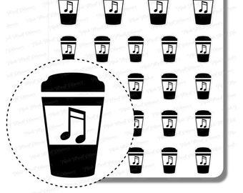 Music Coffee Foil Sticker