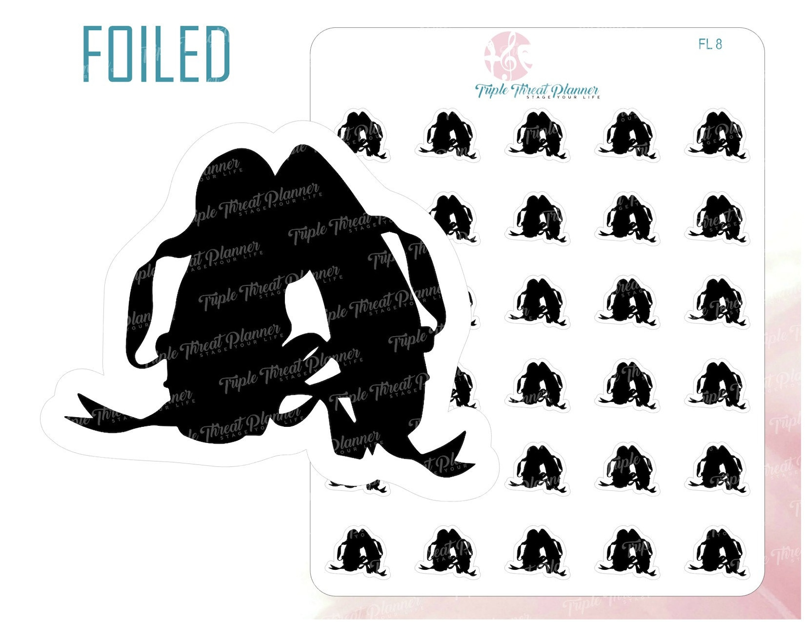 ballet dance foil planner sticker