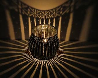 Large Snowflake  Luminary,hygge, candle holder, tea light, patio light, garden light, lantern, luminary, deck light, deck luminary