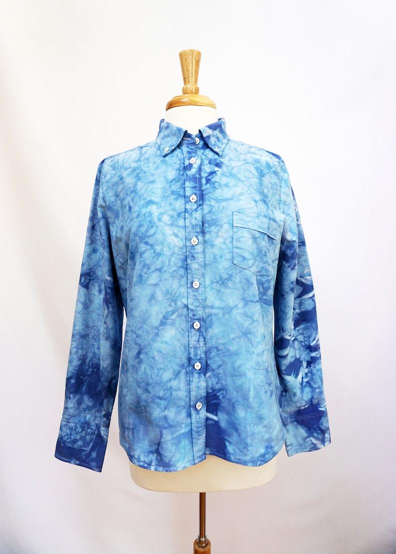festival fashion women/'s buttondown button down shirt free people anthropologie tie dye shirt hand dyed top bohemian style