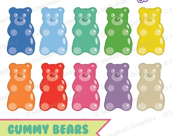 483461b60 Gummy Bear Clipart - Instant Download File - Digital Graphics - Cute -  Crafts