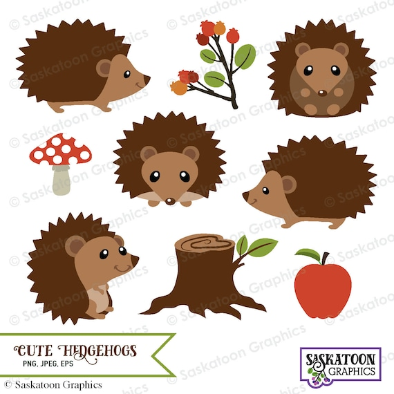 cute woodland hedgehog clipart instant download file etsy rh etsy com hedgehog clipart png hedgehog clipart black and white
