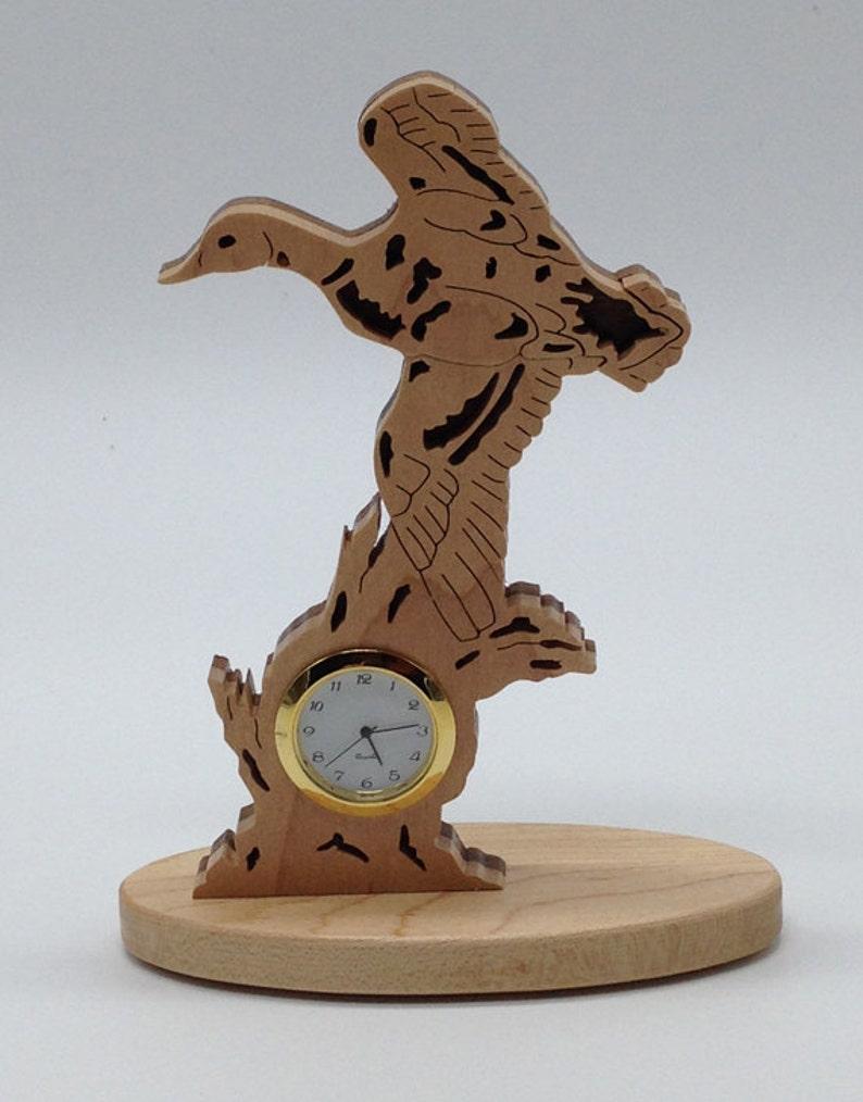 Handmade Wood Fretwork Nature's Majesty Mallard Duck in image 0