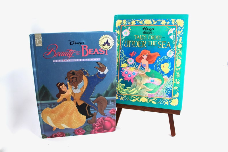 c8a215da1b9 Vintage Disney Beauty and the Beast and The Little Mermaid