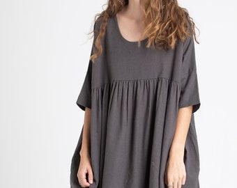 f4277b5ac Linen smock dress