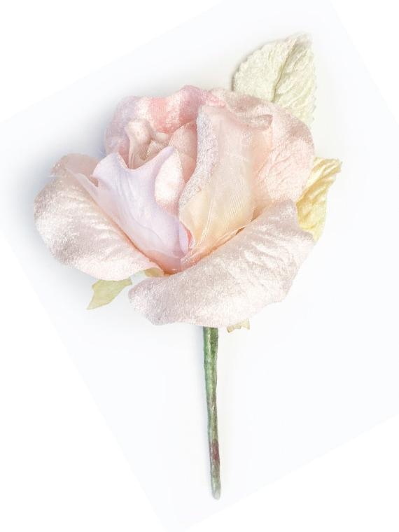 velvet millinery rose millinery flowers vintage velvet rose cream velvet rose,cream flowers Vintage cream Rose small rose corsage rose