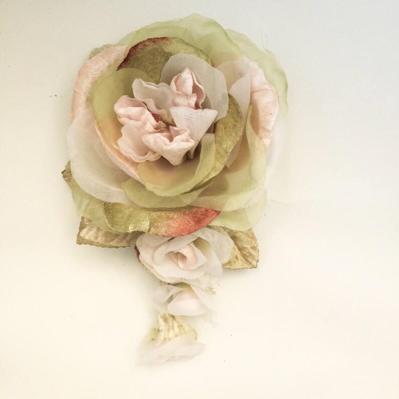 91005092e Velvet and organza peony rose . millinery rose. peony roses. | Etsy