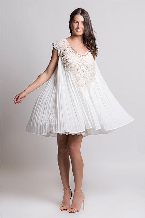 Cream Lace Dress Vintage Lace Dress Boho Lace Dress