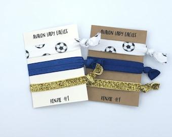 Soccer Gift Hair Ties, Soccer Team Gift, Soccer Elastic Hair Ties, Hair Accessories, Soccer Player, Sports Gift, Creaseless Hair Ties