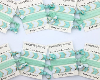 Bachelorette Hair Tie Favor - Going Wild, Survival Kit, Party Favor, Bridal Party Gifts, Elastic Hair Ties, Creaseless Hair Ties, Wedding
