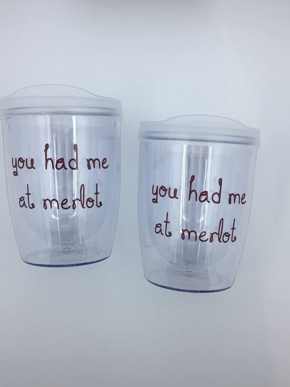 Merlot Wine Tumbler Plastic Wine Tumbler Acrylic Wine Etsy