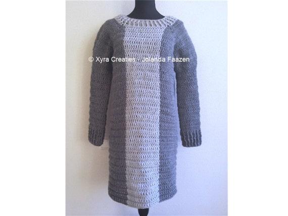 Patr1057 Xyra Crochet Pattern Dress Tunic With Or Etsy