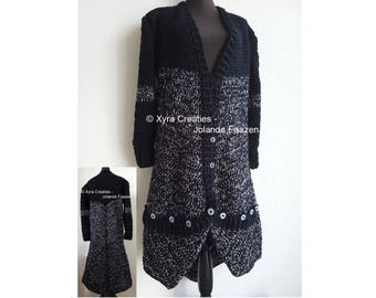 PATR1117 Xyra Crochet-pattern - Long cardigan (Dutch & English-US)