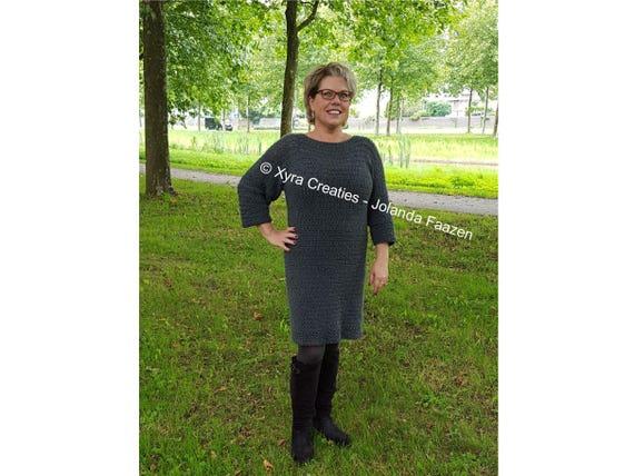Patr1118 Xyra Haakpatroon Jurk Nederlands Engels Us Etsy