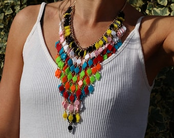 Acrylic necklace statement necklace perspex jewellery