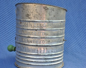 Bromwell's Measuring Flour Sifter, vintage