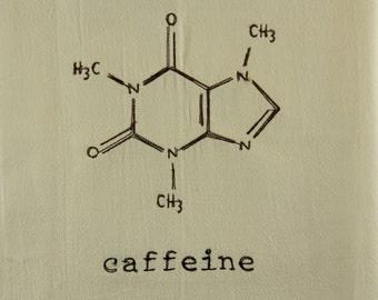 Caffiene Molecule Kitchen Towel // Dish Towel // Science // Chemistry