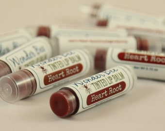 Tinted lip Balm Heartroot 100% Natural // Lip Gloss // Lip Stain