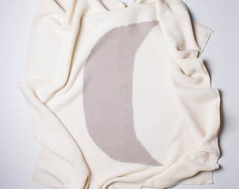 "Estella Cotton Baby Blanket - Moon 30"" x 30"""