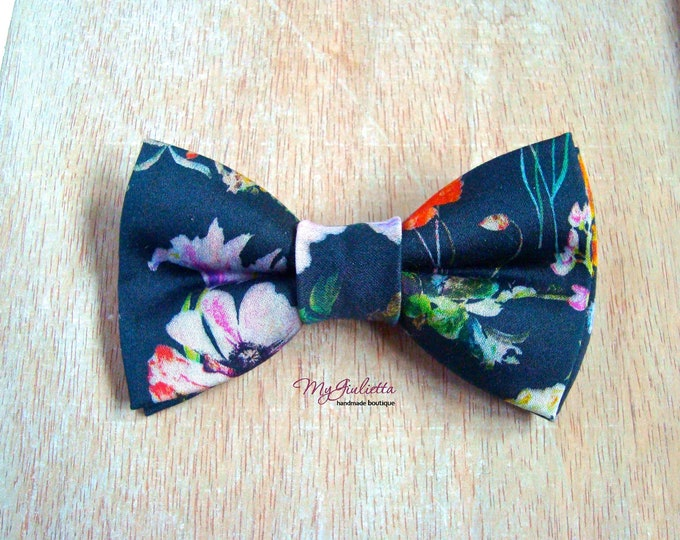 Bow Clips Pure Cotton Blue Pre-Tied Bow Hair Clips Accessory, Bow ties Accessory for Girls Women Baby Boys Unisex Tie for Hair Bowtie Neck