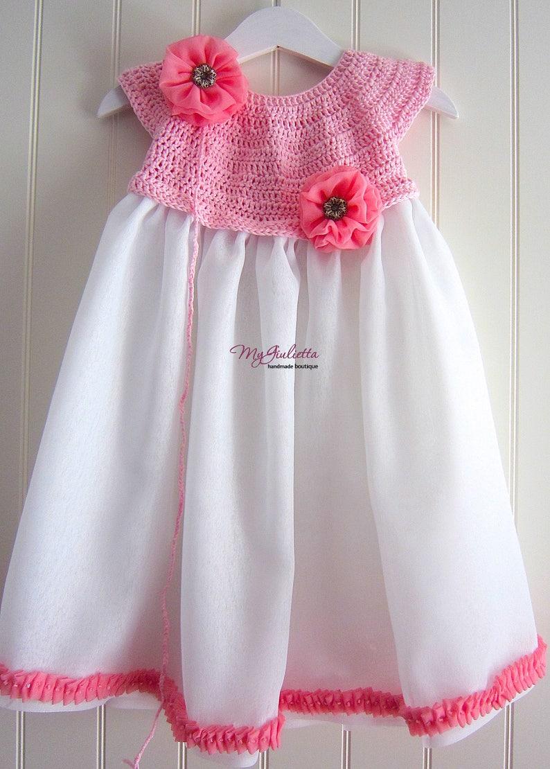 Piccola Principessa Vestito Bambina Cotone Vestiti Comunione Etsy