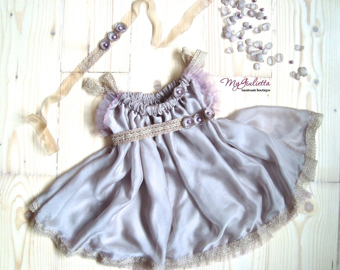 Girl Photography Newborn Props Vintage Silk Dress Sitter Props Baby Photo Props Girl Outfit Spring Prop Photo Session Tull Lace Veil Outfit